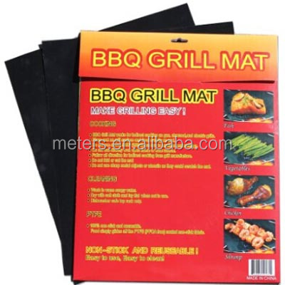 Easy Cleaning Reusable Fireproof Charcoal Barbecue Non-Stick Fire Retardant Miracle Teflon BBQ Grill Pad Mat