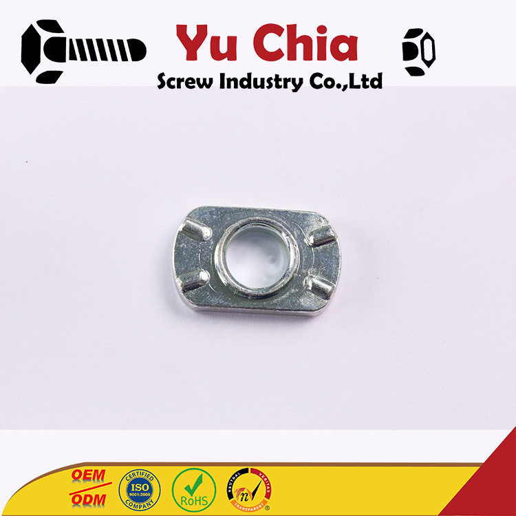 OEM ODM Anchor Bolt Expansion Captive Screw M4 Cage Nuts