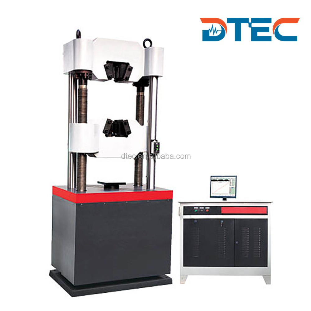 DTEC DEW-300D Hydraulic Universal Testing Machine,300KN,Computer Display,Electro-hydraulic Servo Motor,Manufacturer Price