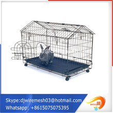 Has adopted ISO Certificate Portable Easy Assembly foldable pet cage