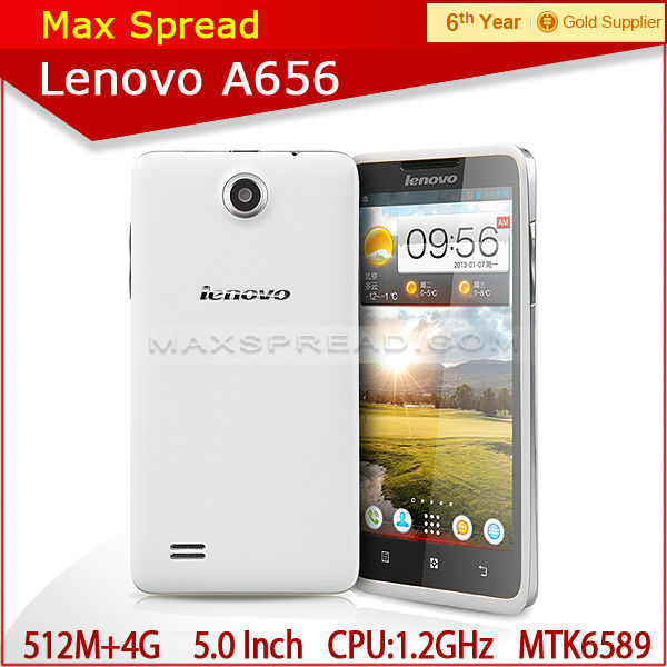 cheap mobile phone mkt6589 quad core 1.3ghz 512mb ram 4gb rom 5.0inch lenovo a656