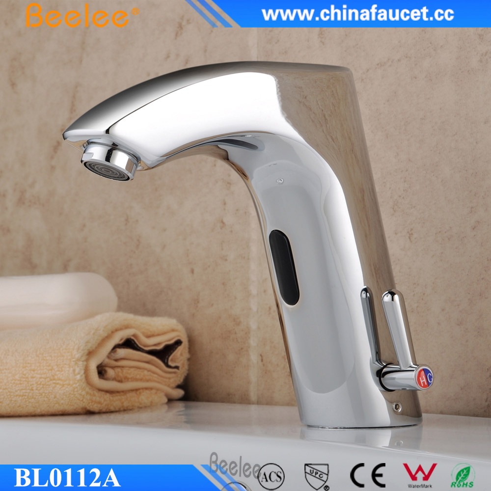 Beelee BL0112A Cold & Hot Water Sensor Mixer Induction Automatic Bathroom Basin Faucet with Infrared Sensor