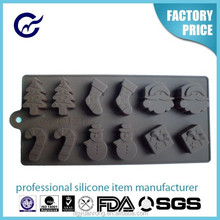 Yuanrong New Arrival christmas gift silicone chocolate mold christmas shoes shape chocolate mould