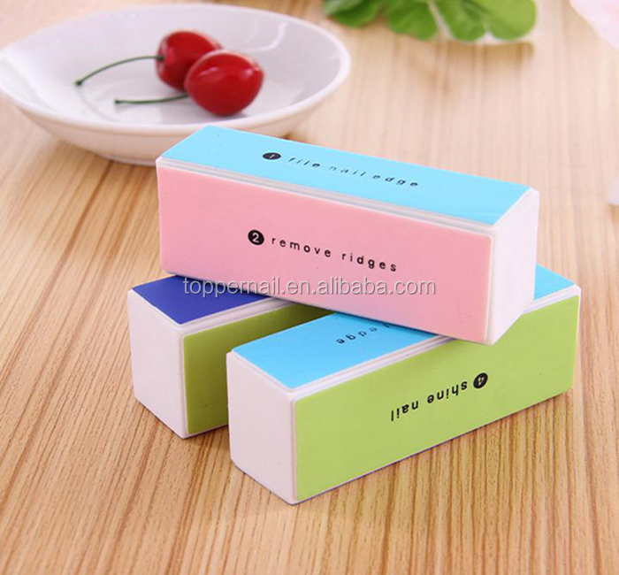 Disposable Professional Mini cheap price 4 sides sponge nail buffer electric