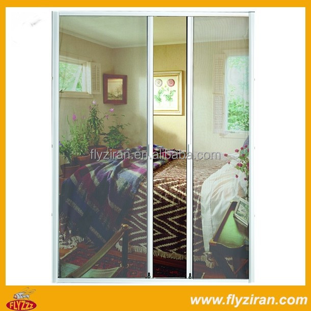 Diy Aluminium Double Retractable Screen Doors Buy Screen