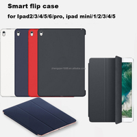 Copy Original New Arrvial popular Auto Sleep Flip Leather Case for Ipad Air 1 2,For Ipad 2 3 4 5 6 Tablet Folding Smart Case