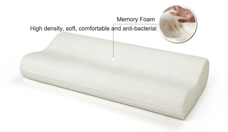 Health Care Standard Size Contour Plush Memory Foam Pillow
