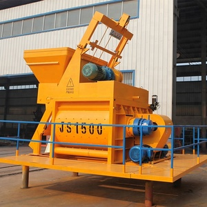 Large portable concrete mixer with pump for sale js1500 concrete mixer