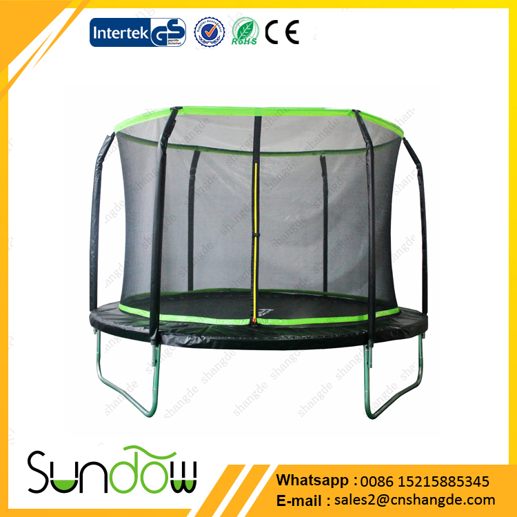 10ft big trampoline with safety enclosure