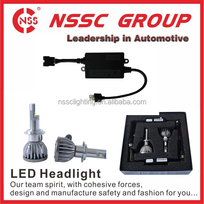 China Manufacturer High Output And Lumen 5000lm 38w H7 LED Car Headlight With High Low Beam Enhancing Your Car Performance