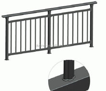 American style black powder coated aluminum fence post