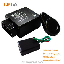 Car OBD2 gps tracker with real time online tracking and shock sensor, easy installation with factory price