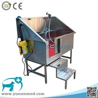 top quality veterinary clinic hospital 304 stainless steel dog bathtub for sale