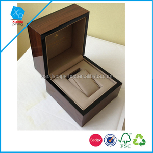 Natural wooden watch box with pillow inside wooden watch box wholesale