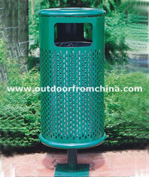 steel outdoor litter bin/ outdoor dustbin/ outdoor trash bin