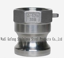 stainless steel pipe fitting quick coupling