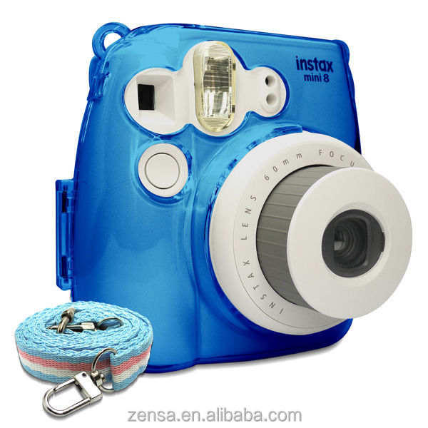 Fujifilm Instax Mini 8 Photo Protection Crystal Camera Case / Strap - Blue