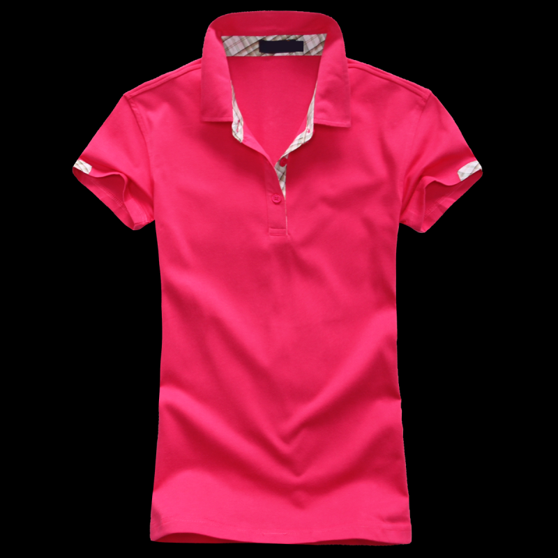 The new 2015 lapel cultivate one's morality short sleeve fashion women's POLO shirt