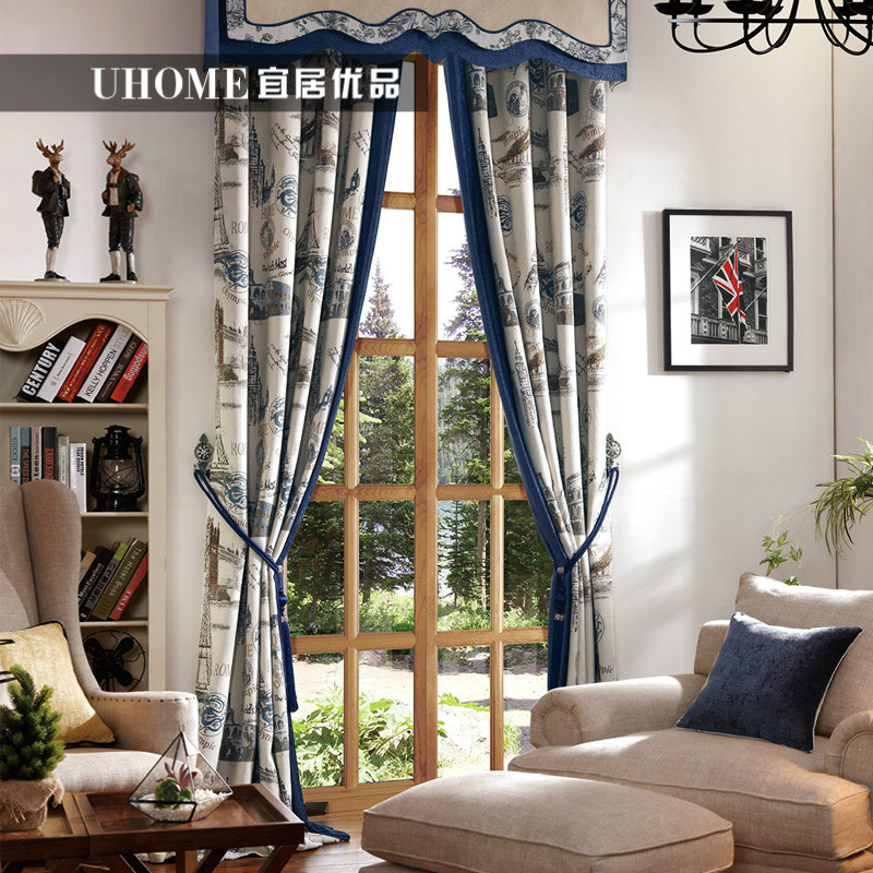 european american style vintage chenille window cotton curtain jacquard curtain american curtain designs