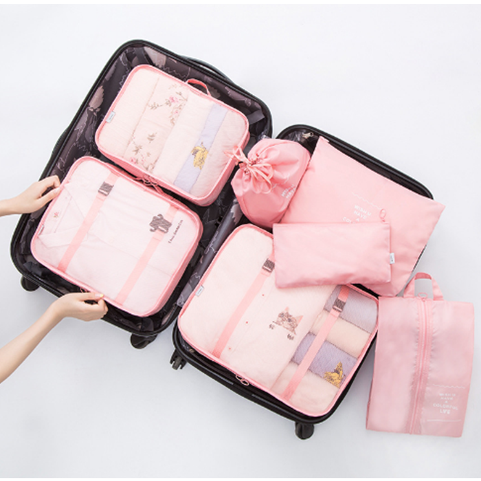 china supplier High Quality large waterproof portable <strong>travel</strong> carry on luggage bags luggage <strong>travel</strong> set 7 sets Packing Cubes