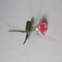 High quality Chinese manufactured artificial wedding flower desert yellow rose wholsale
