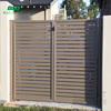 Cheap prefab aluminum manual fence slat gate panels