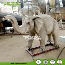 Theme Park Simulation Lifesize Animal of Small Elephant Model