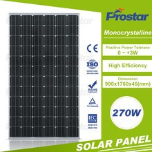 high quality cheap price 270W mono photovoltaic solar module for solar pv system