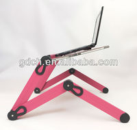 New Notebook Laptop Desk Stand Bed Table Folding Foldable Adjustable USB