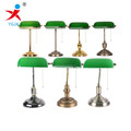 Custom Classic Glass Green Banker Lamps