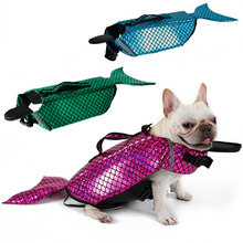 Mermaid Sea-Maid Pet Costume Swimming Clothes Vest Dog Life Jacket