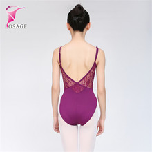 Lungo/Manica Corta In Pizzo low Back Sexy Danza Classica Per Adulti Body