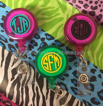 Stock Personalized Monogram Blank Badge Reels