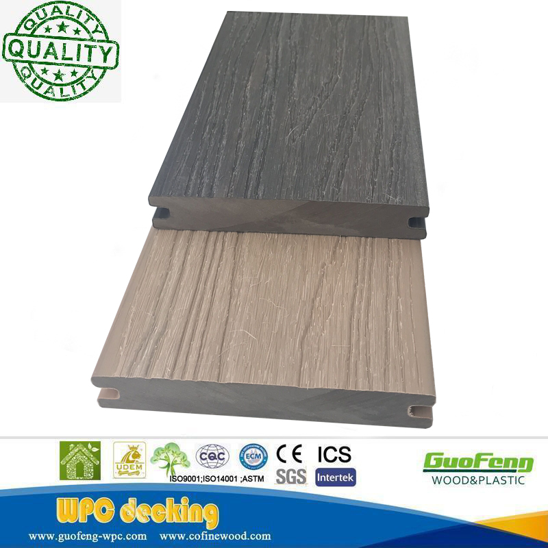 New Design Colors Solid Wpc Decking Hard Wearing Co-extrusion Composite Deck For Waterproof Wpc Outdoor