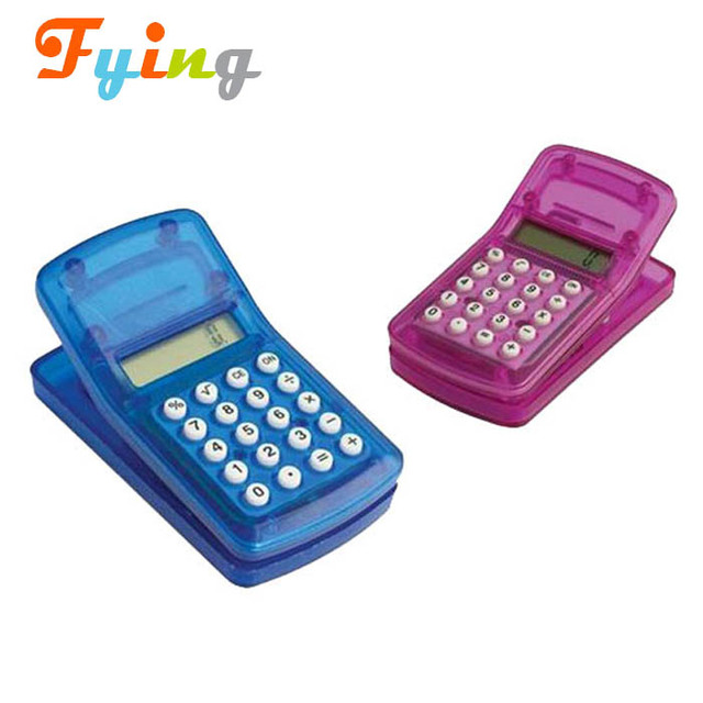 promotional 8 digit fancy gifts mini clip calculator with magnet