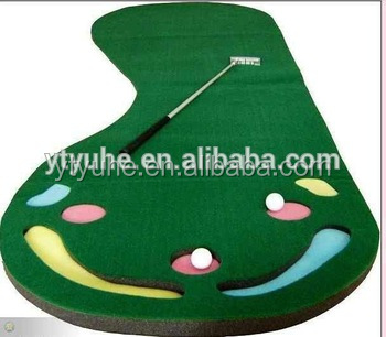 synthetic grass golf green /mini portable individual practice golf green