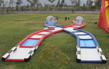 Inflatable zorb ball track rolling down slope inflatable body ball