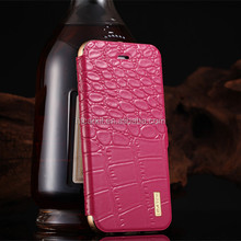 Creative Custom Crocodile 6063 aerospace aluminum Mobile Phone Leather Case For Iphone 6 6 plus Case