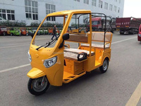 2016 China factory price new bajaj three wheeler price/ 800w 1000w 1200w electric rickshaw tuk tuk passenger taxi with 6 seats