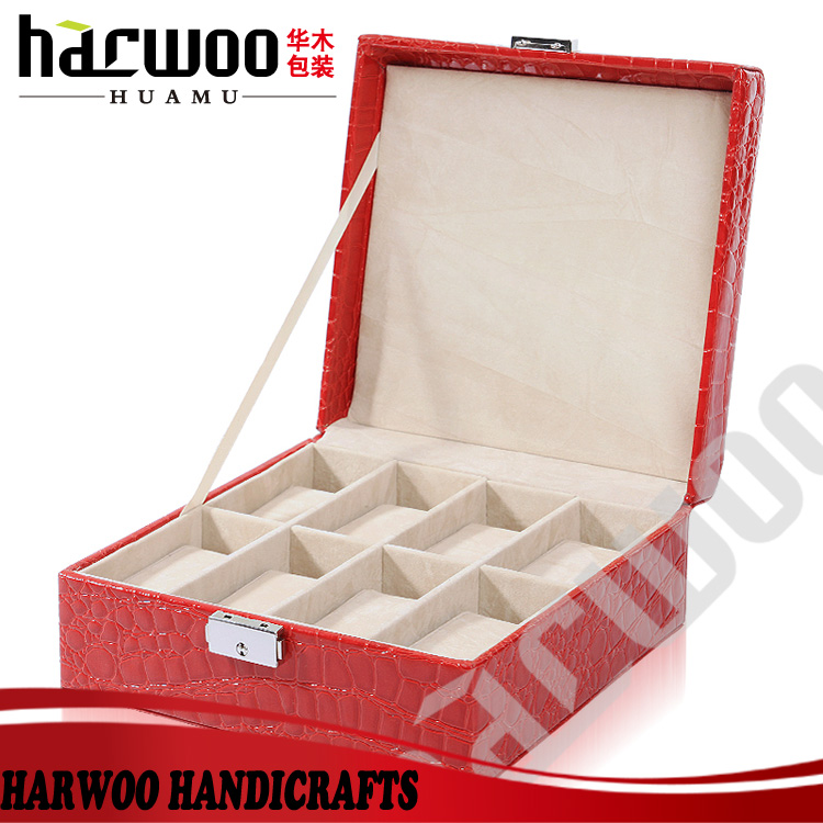 2014 Popular leather cosmetic craft case for jewelry