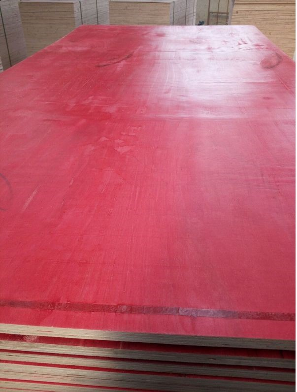 high quality red colour antislip film faced plywood