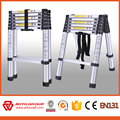 EN131 household Aluminum telescopic ladder,5m telescopic ladder,warehouse ladder