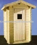 wooden tool house, log cabin, small and practical