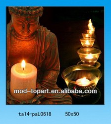 Candle light up buddha photo picture frame