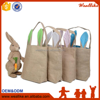 Wholesale Easter Gifts Easter Bags Dual Layer Rabbit Ears Design hand bag Jute Bag