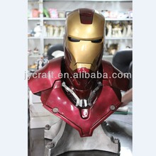 hotsale resin high quality bust of ironman statues
