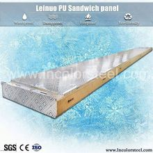 high flatness thermal insulation cold room using polyurethane sandwich roof panels / pu panel