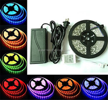 16.4ft 8 modes RGB LED Strip Flexible Kit 5050 300led Waterproof IP67 Lights 44Key IR Remote Controller 12V 5A Power Supply
