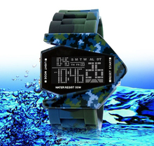 Made in China colorful unisex watch silicone 3 atm water resistant led digital watch