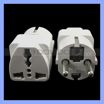 4.8mm Euro EU Plug 10A 250V AC Converter France Euro Schuko Plug Germany AC Power Plug Korea Socket Plug